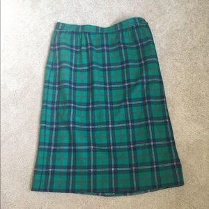 Vintage Pendleton plaid wool skirt